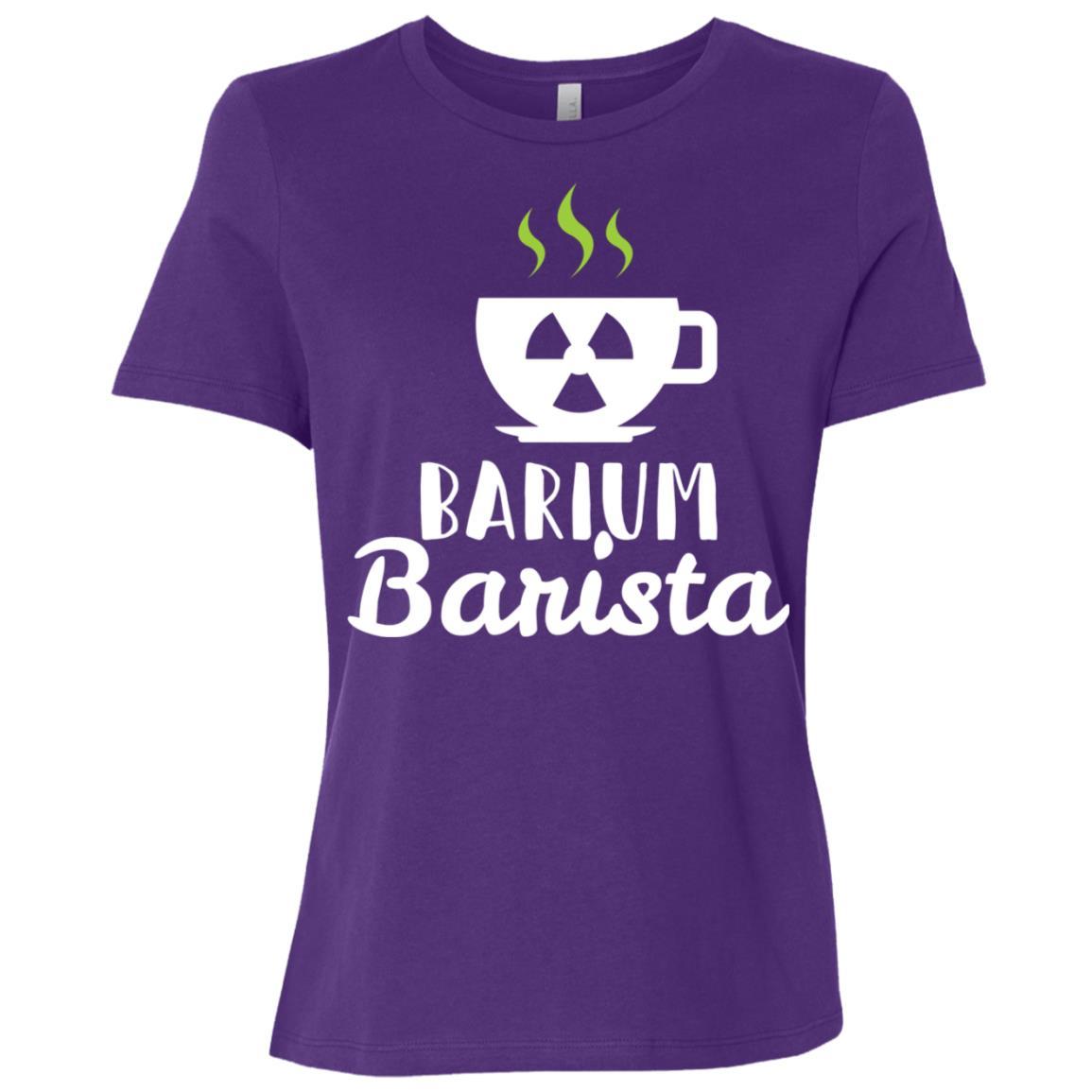 Barium Barista Radiology Technician Gift Women Short Sleeve T-Shirt
