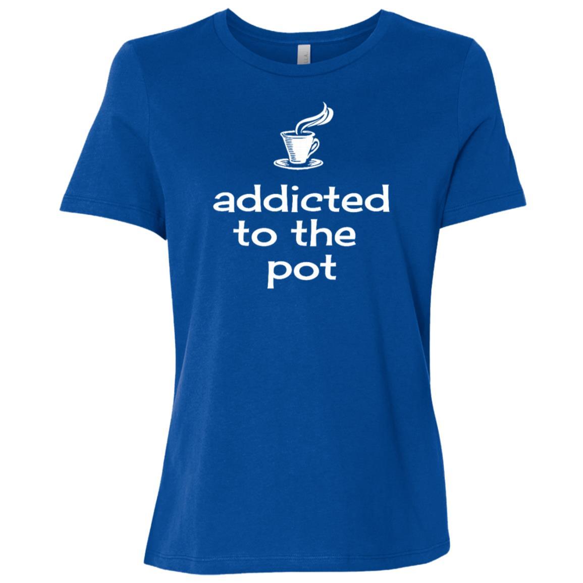 Addicted to the Pot – Humorous Coffee Pot-2 Women Short Sleeve T-Shirt