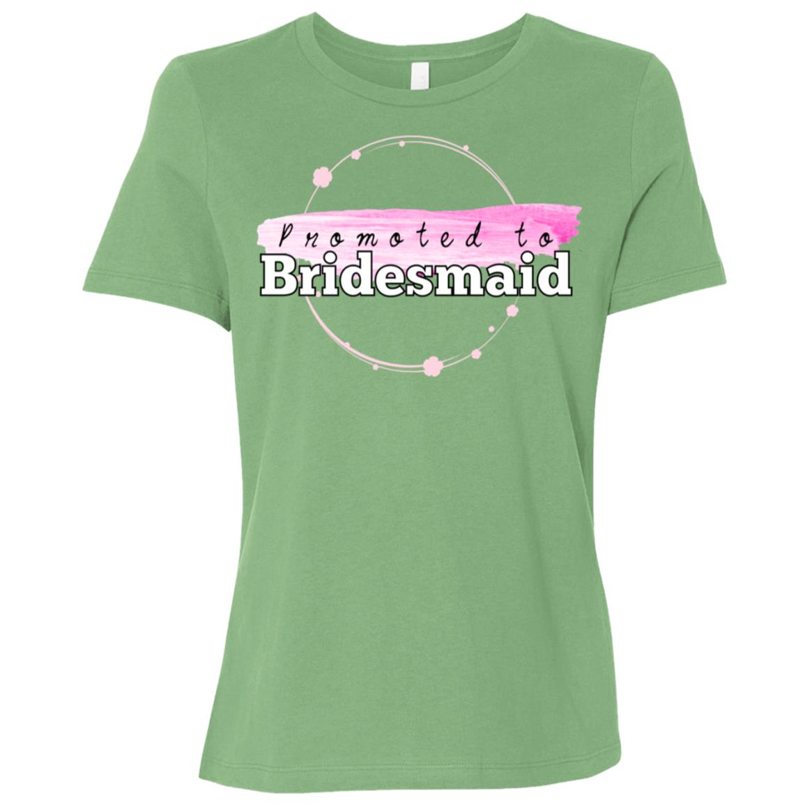 Promoted To Bridesmaid Engagement Party Women Short Sleeve T-Shirt