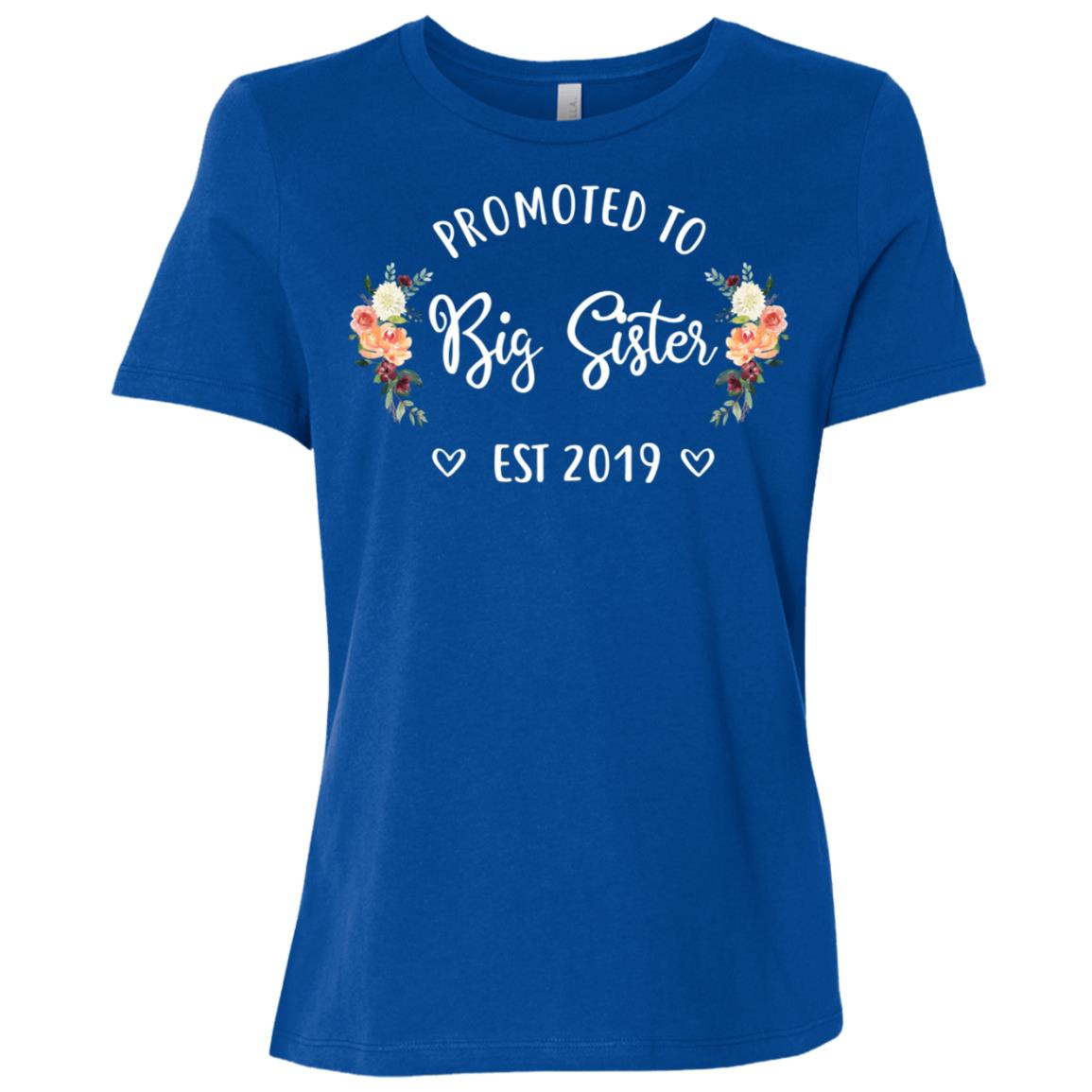 Promoted to Big Sister Est 2019 New Big Sister Women Short Sleeve T-Shirt