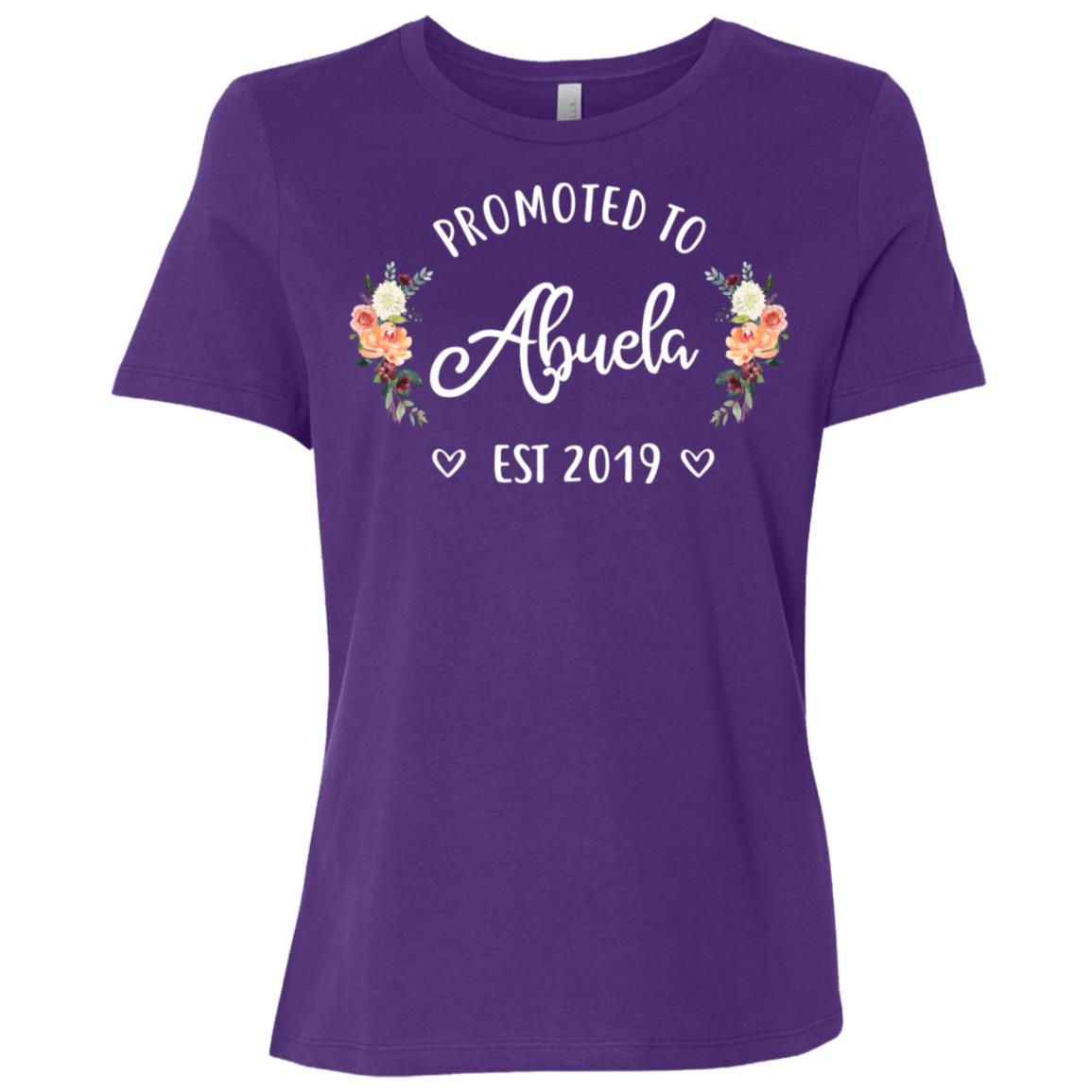 Promoted to Abuela Est 2019 New Abuela Women Short Sleeve T-Shirt