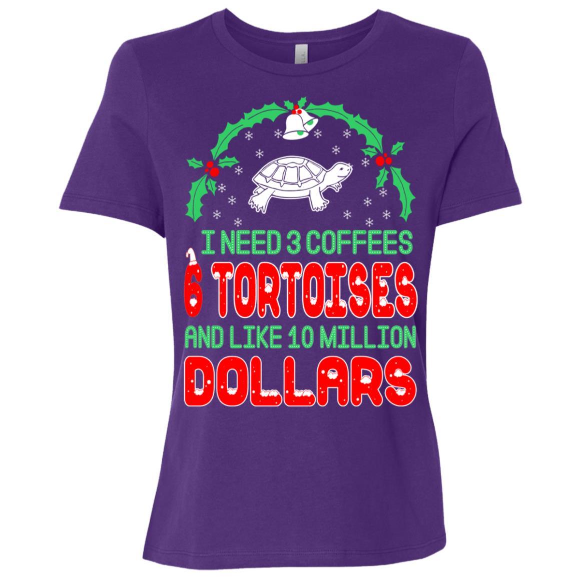 Need 3 Coffees 6 Tortoises Christmas Ugly Sweater-1 Women Short Sleeve T-Shirt