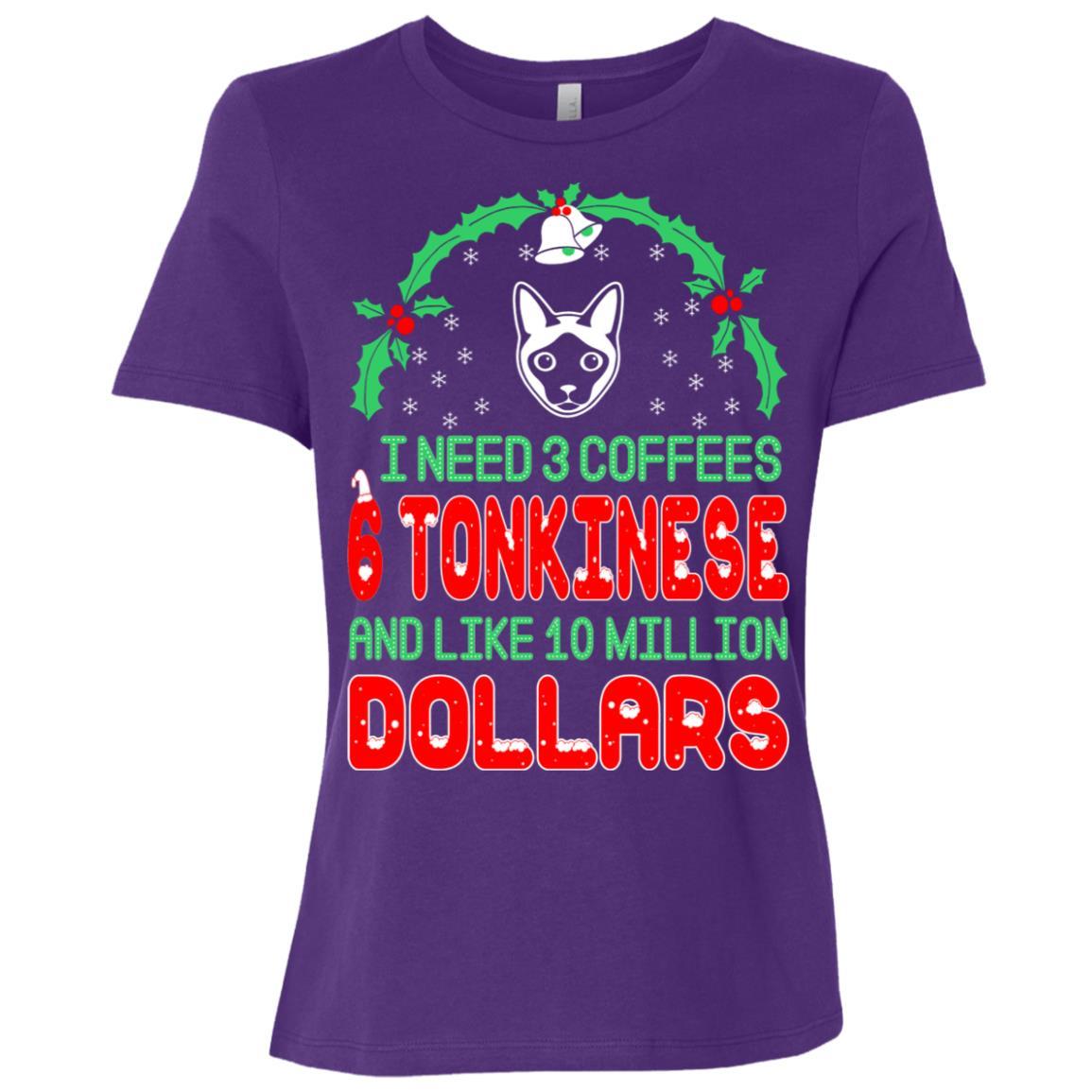 Need 3 Coffees 6 Tonkinese Christmas Ugly Sweater-1 Women Short Sleeve T-Shirt