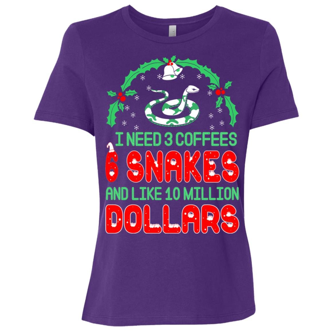 Need 3 Coffees 6 Snakes Christmas Ugly Sweater-1 Women Short Sleeve T-Shirt