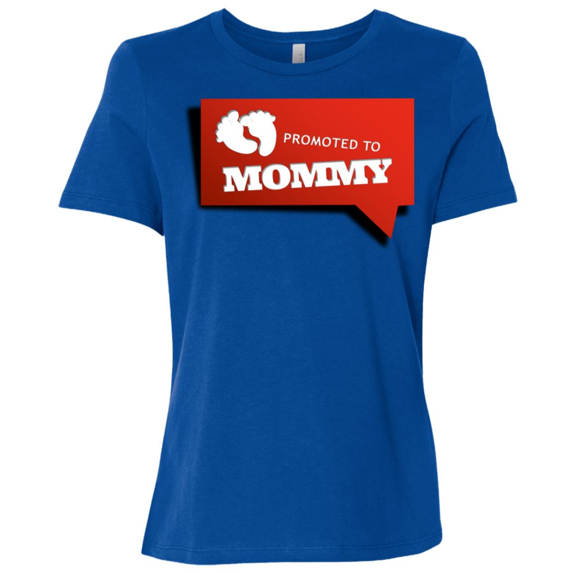 Promoted To Mommy Funny Is A Cute New Mom Gift Women Short Sleeve T-Shirt