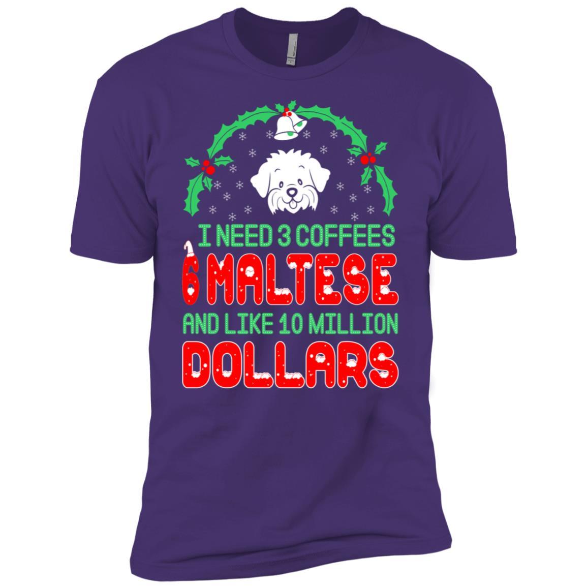 Need 3 Coffees 6 Maltese Christmas Ugly Sweater-1 Men Short Sleeve T-Shirt
