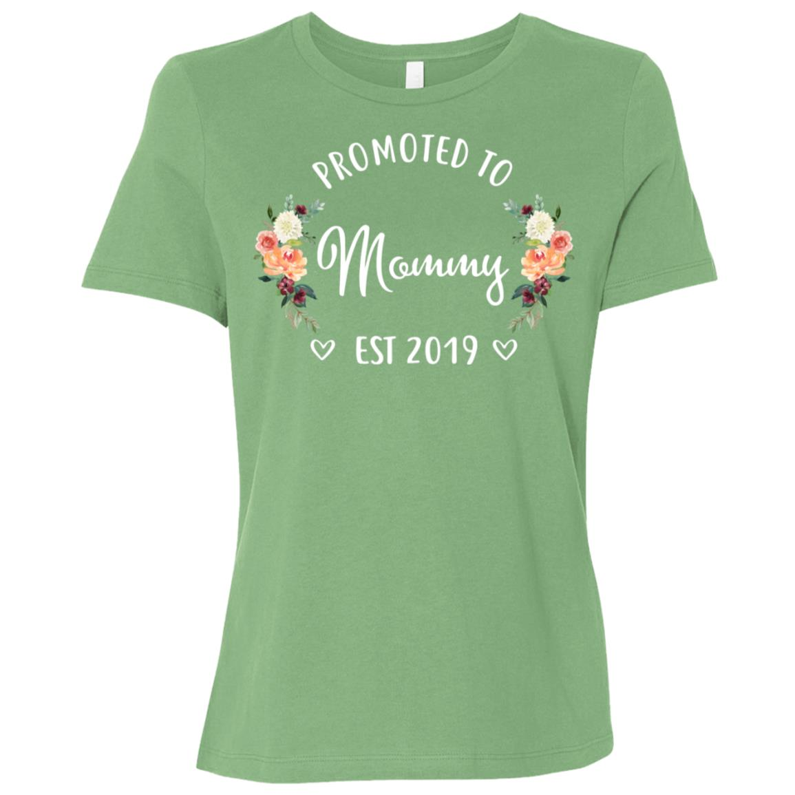 Promoted to Mommy Est 2019 New Mommy Women Short Sleeve T-Shirt