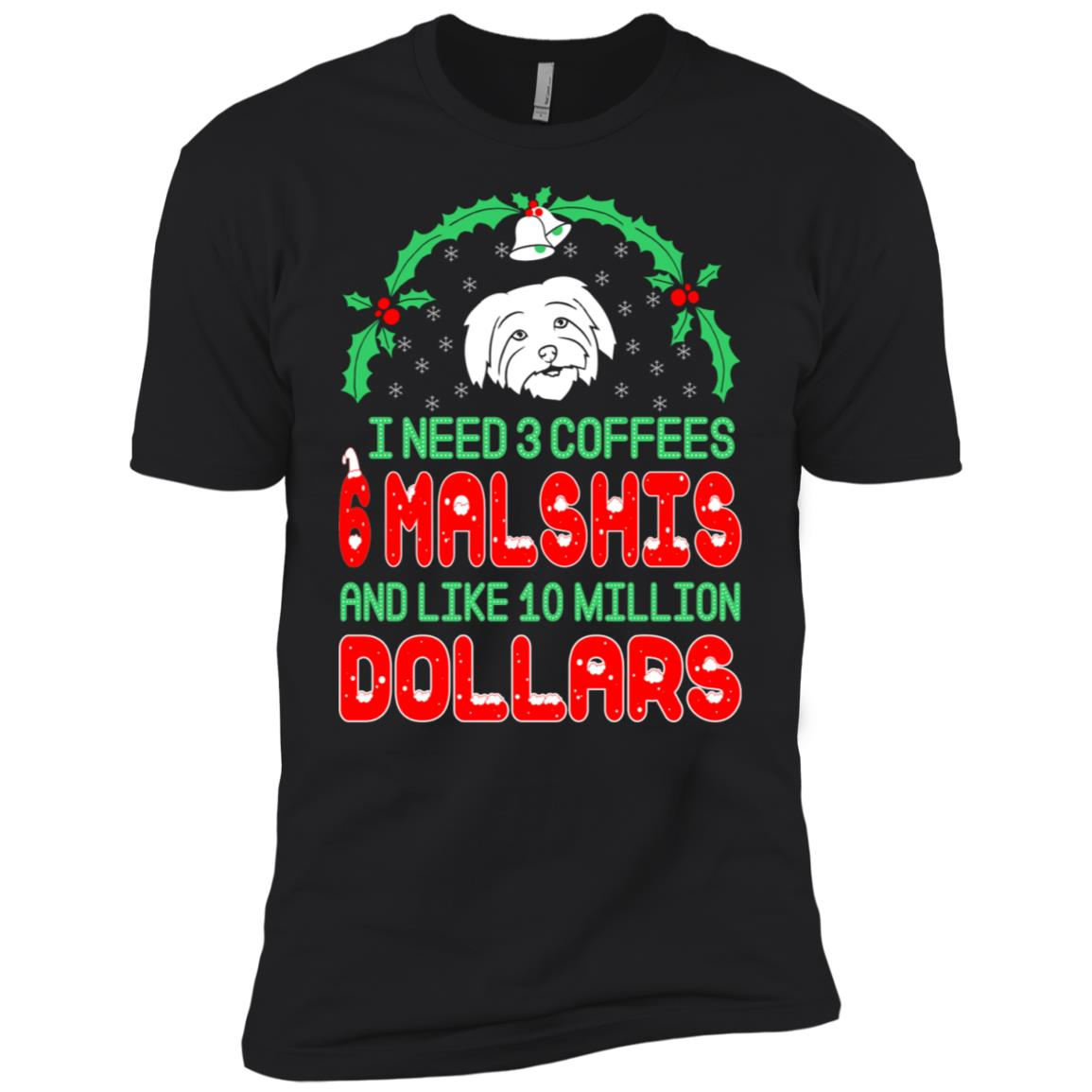 Need 3 Coffees 6 Malshis Christmas Ugly Sweater-1 Men Short Sleeve T-Shirt
