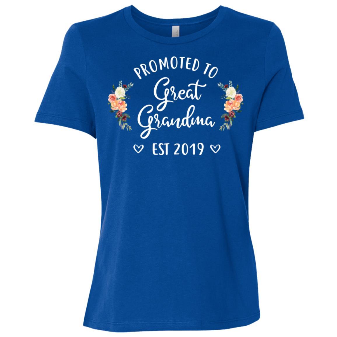 Promoted to Great Grandma Est 2019 New Great Grandma Women Short Sleeve T-Shirt