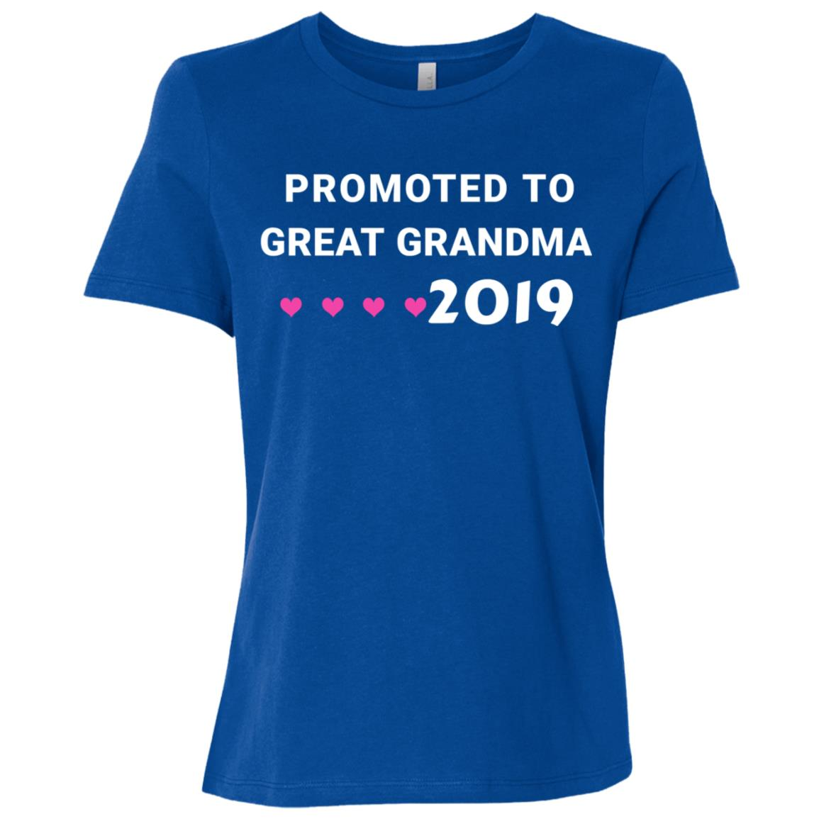 Promoted To Great Grandma 2019 Gifts For New Grandma-1 Women Short Sleeve T-Shirt