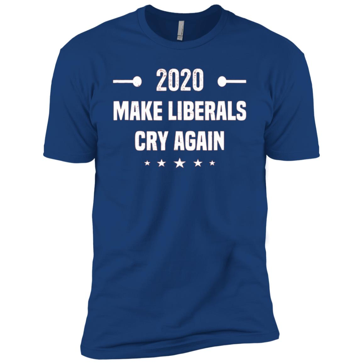 Trump 2020 Make Liberals Cry Again Gift Gop Re-elect Men Short Sleeve T-Shirt