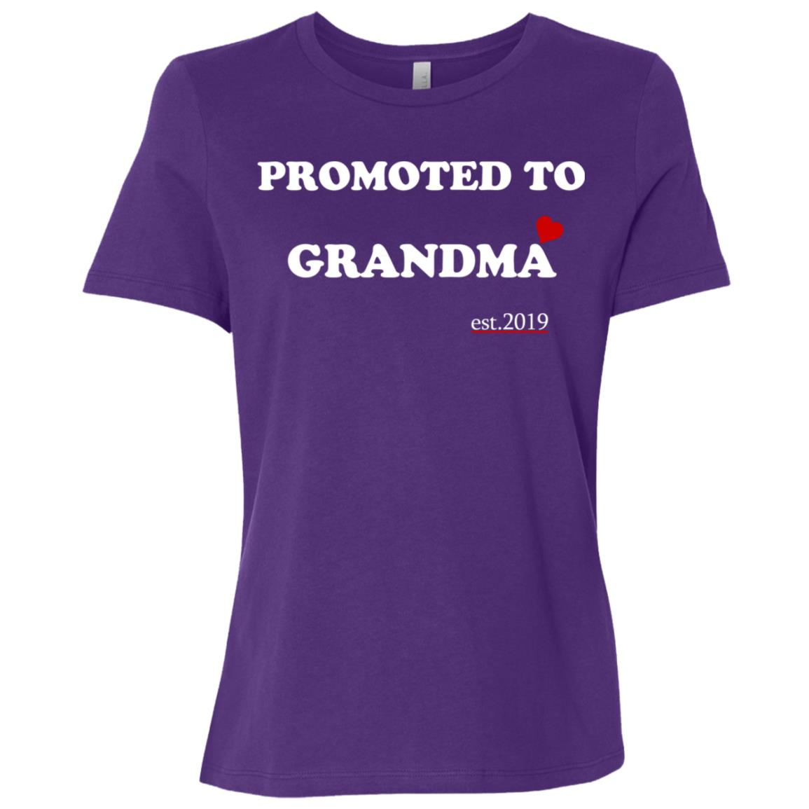 Promoted to grandma 2019-1 Women Short Sleeve T-Shirt