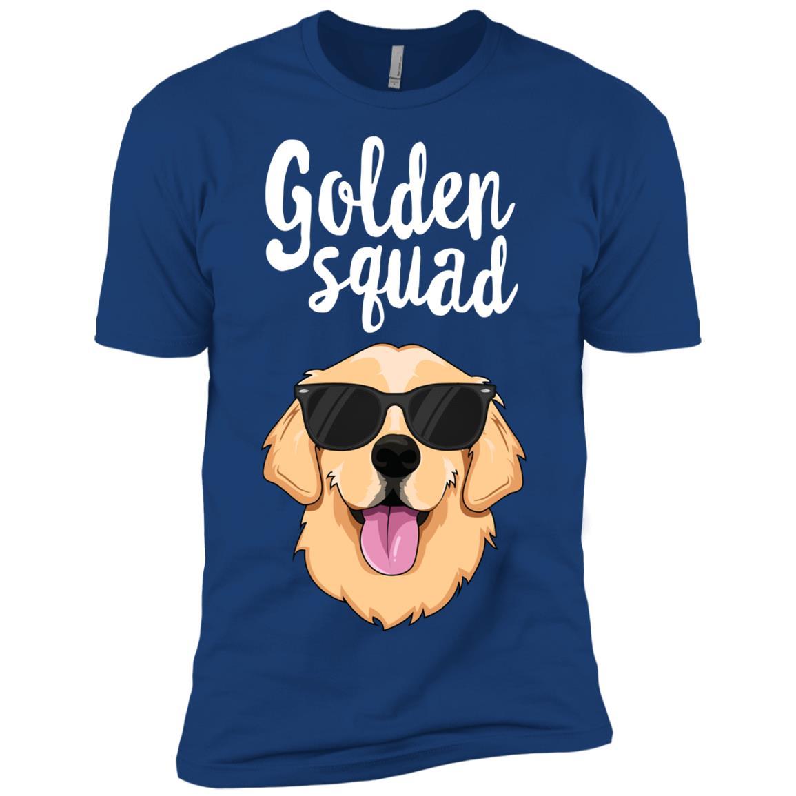 Golden Squad Retriever Dog Pet Lover Men Short Sleeve T-Shirt