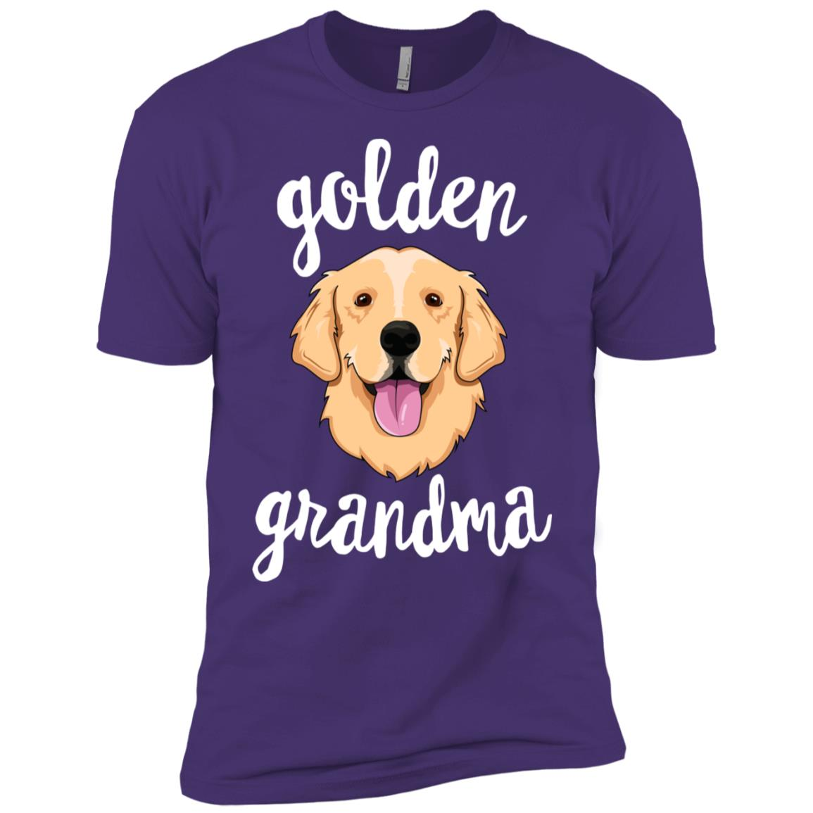 Golden Retriever Grandma Women Mom Dog Men Short Sleeve T-Shirt