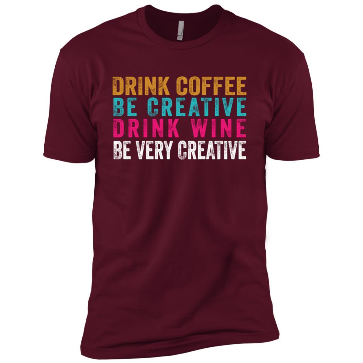 Funny Coffee Wine Creative Artist Novelty Men Short Sleeve T-Shirt