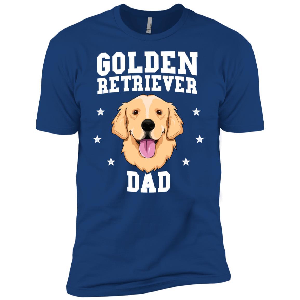 Golden Retriever Dad Men Father Dog Pet Men Short Sleeve T-Shirt