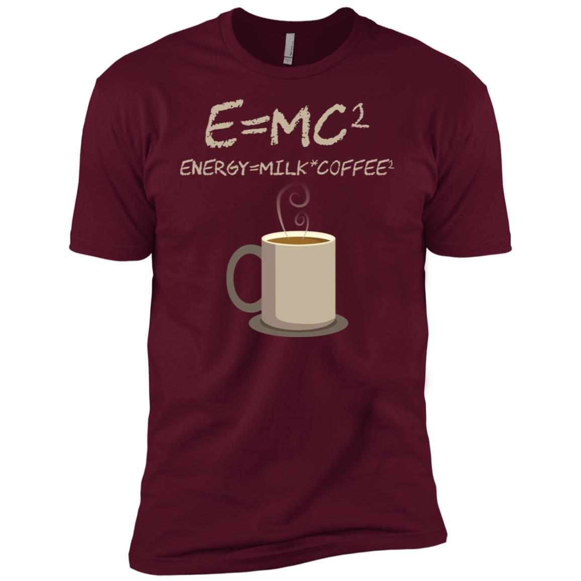 E=mc2 Funny Science Coffee Energy Milk Gift Men Short Sleeve T-Shirt