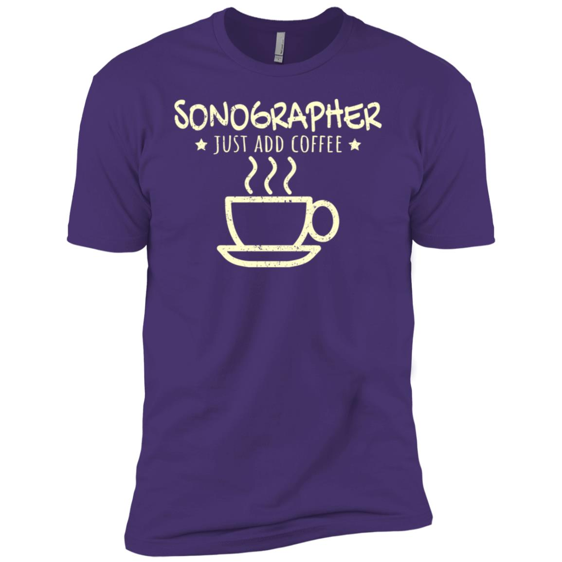 Sonographer Ultrasound Tech Coffee Lover Men Short Sleeve T-Shirt