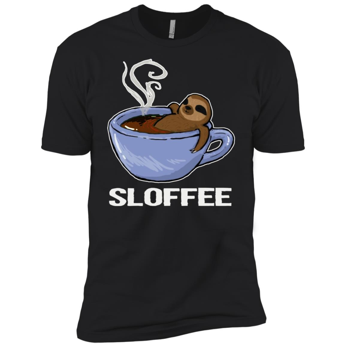 Sloffee Tees Funny Coffee Lover Sloth Lover Men Short Sleeve T-Shirt