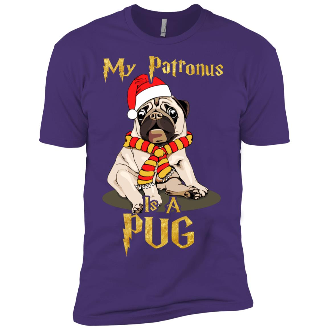 My Patronus is a Pug Dog Christmas Gifts Men Short Sleeve T-Shirt