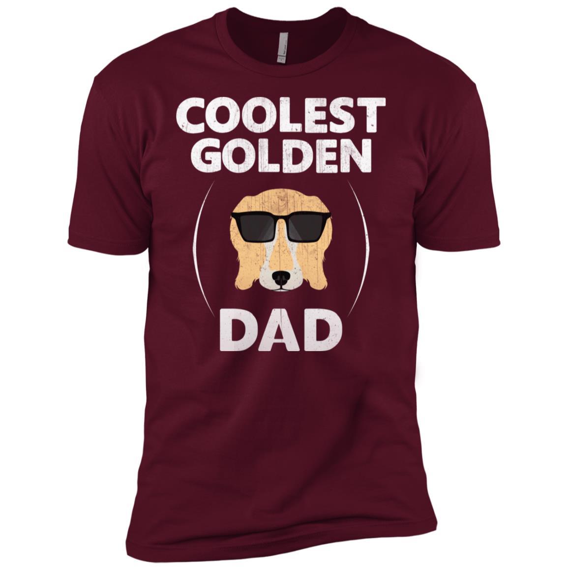 Retriever Dad – Coolest Golden Dad Men Short Sleeve T-Shirt