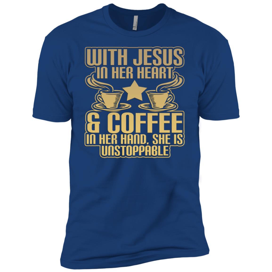 Jesus In Her Heart, Coffee In Hand… Men Short Sleeve T-Shirt