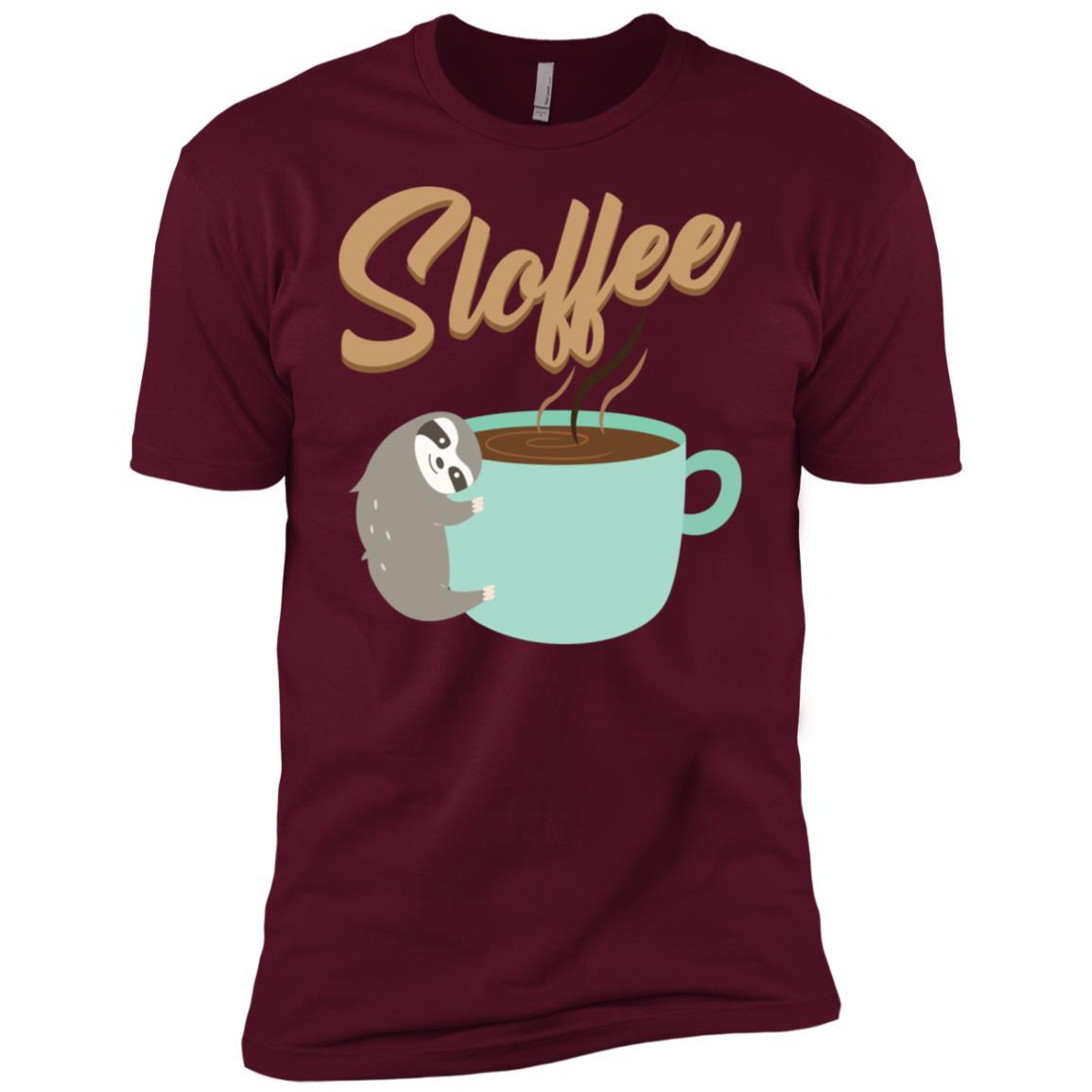 Coffee Sloffee Pun Sloth Caffeine Men Short Sleeve T-Shirt