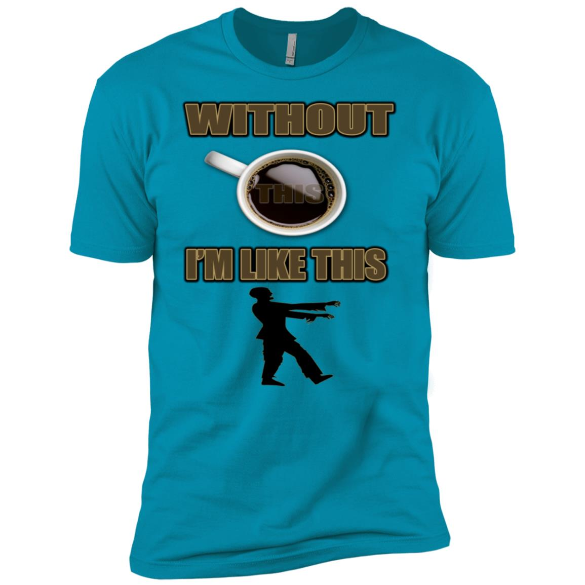 Without (Coffee) I'm Like A Zombie for young Men Short Sleeve T-Shirt