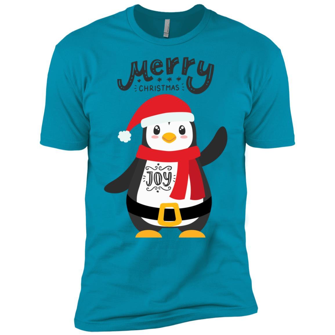 Cute Merry Christmas Baby Penguin Tee Men Short Sleeve T-Shirt