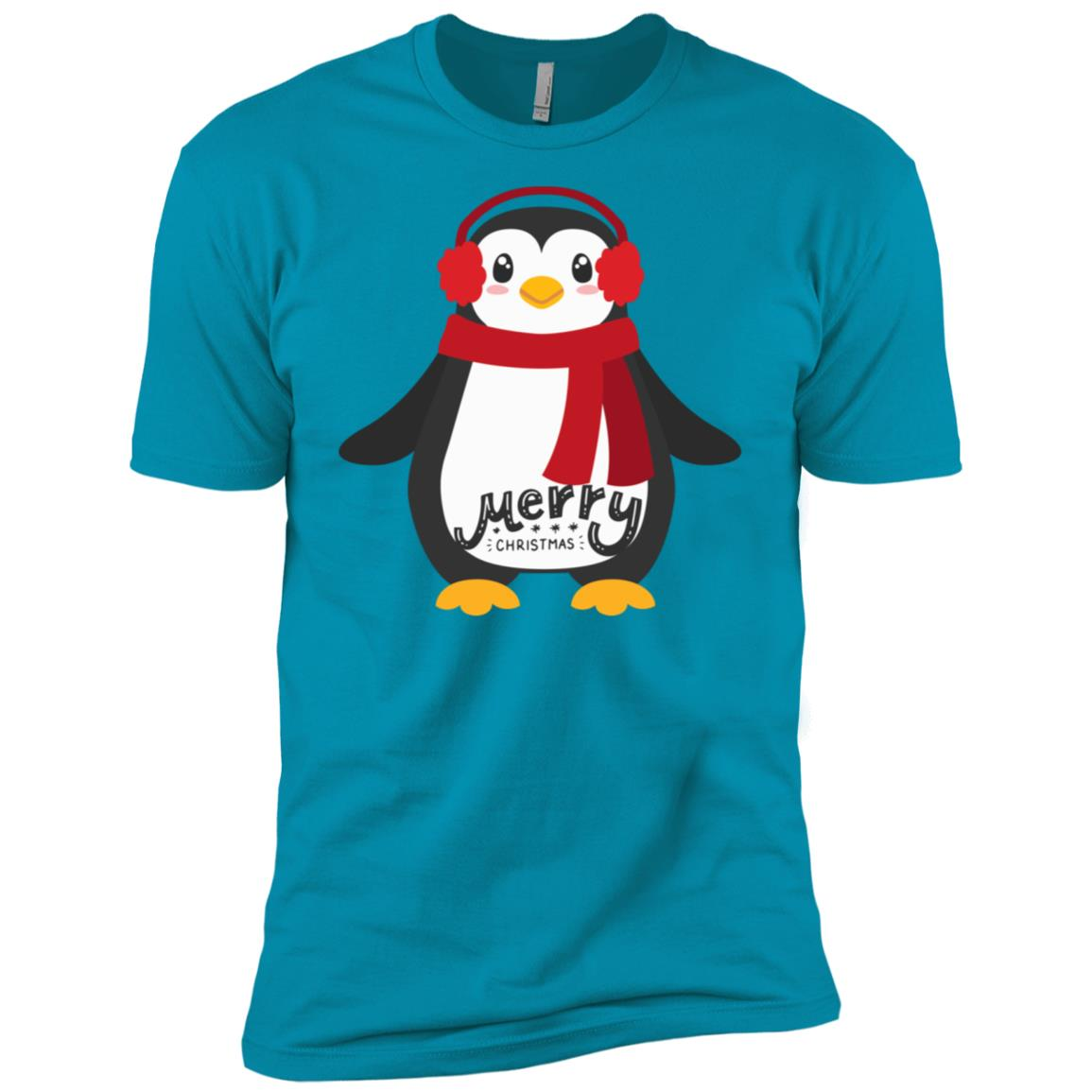 Cute Merry Christmas Baby Penguin Tee-1 Men Short Sleeve T-Shirt