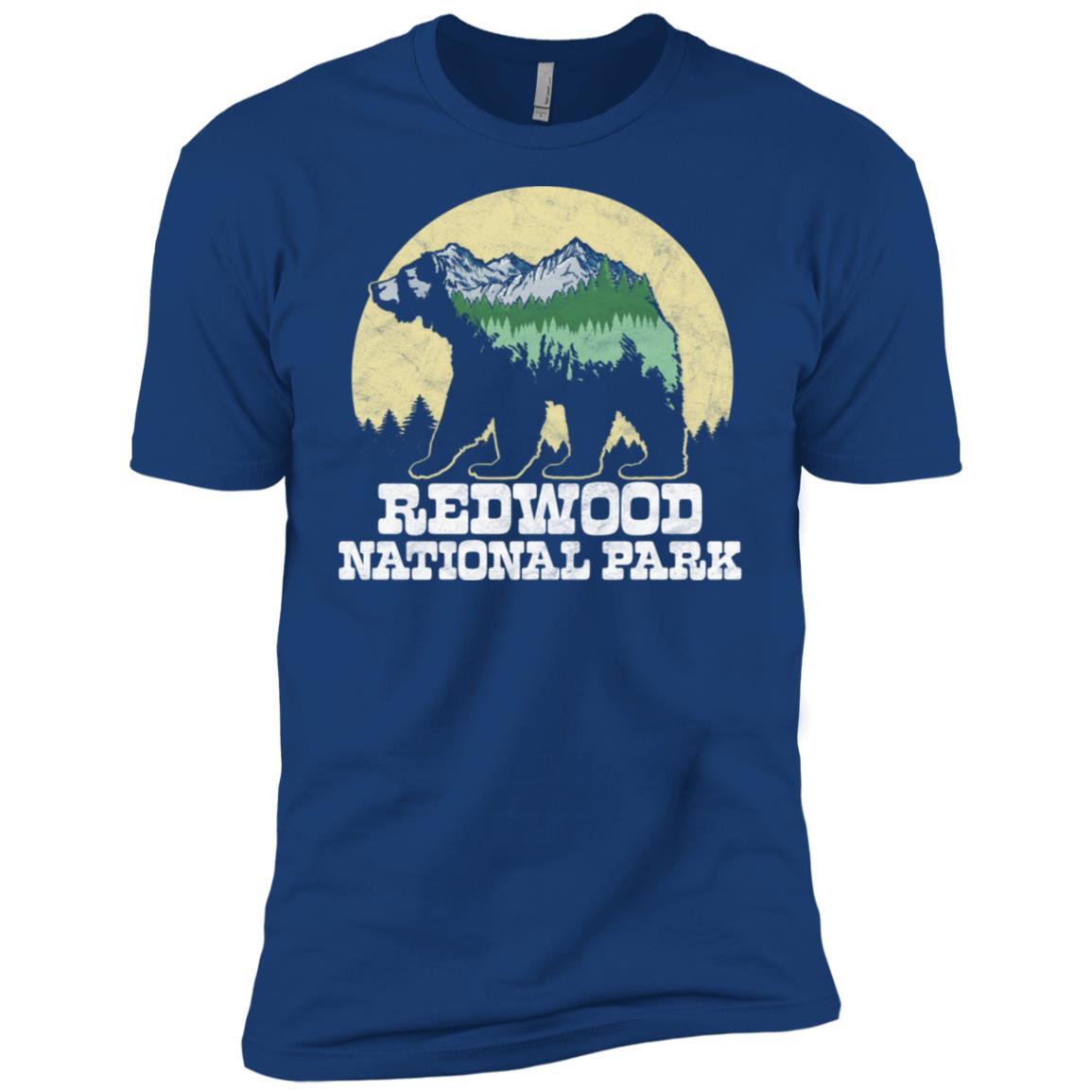 Redwood National Park Bear Sketch Mountains Tee Men Short Sleeve T-Shirt