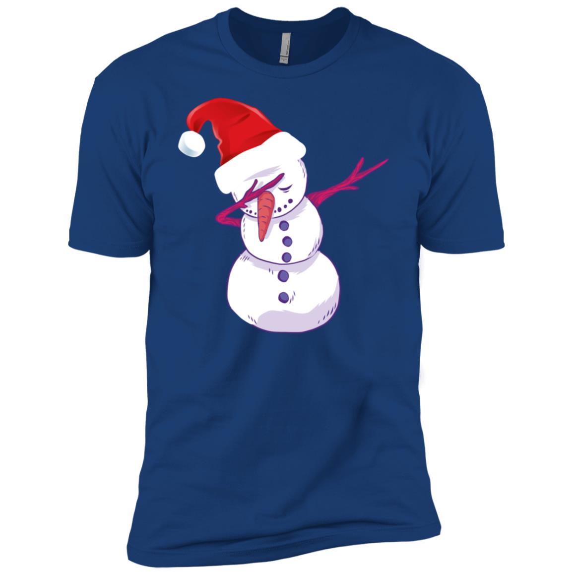 Christmas Hat Dabbing snowman Snow Man Dab Men Short Sleeve T-Shirt