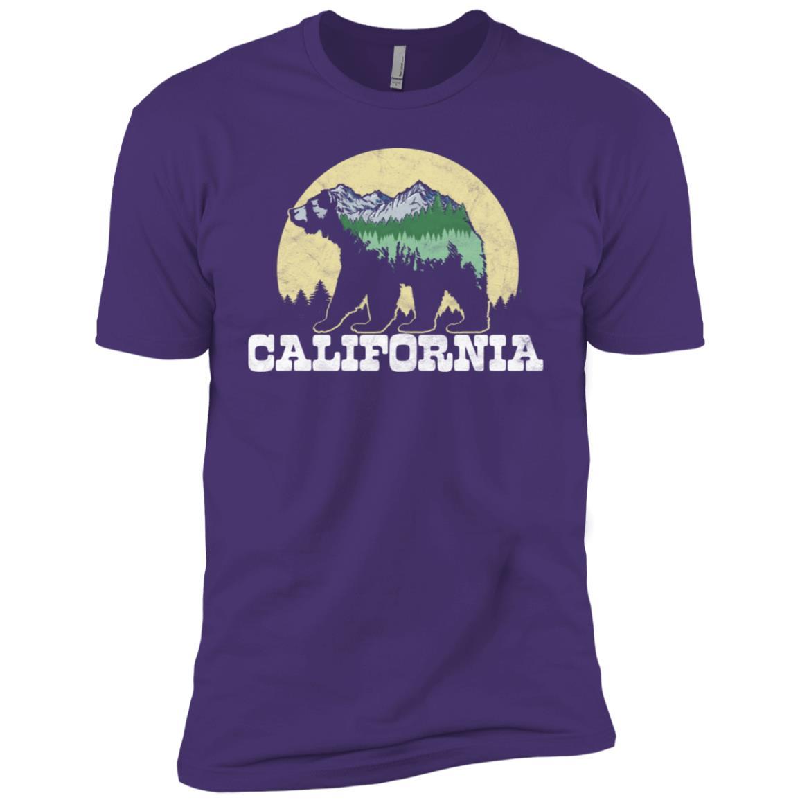 California Bear Sketch Mountains & Trees Men Short Sleeve T-Shirt