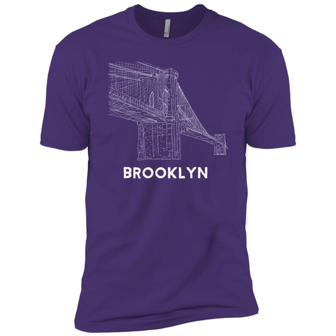 Brooklyn Bridge Hand Line Drawing New York Men Short Sleeve T-Shirt