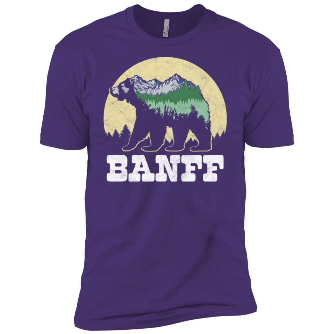 Banff Bear Sketch Mountains & Trees Men Short Sleeve T-Shirt