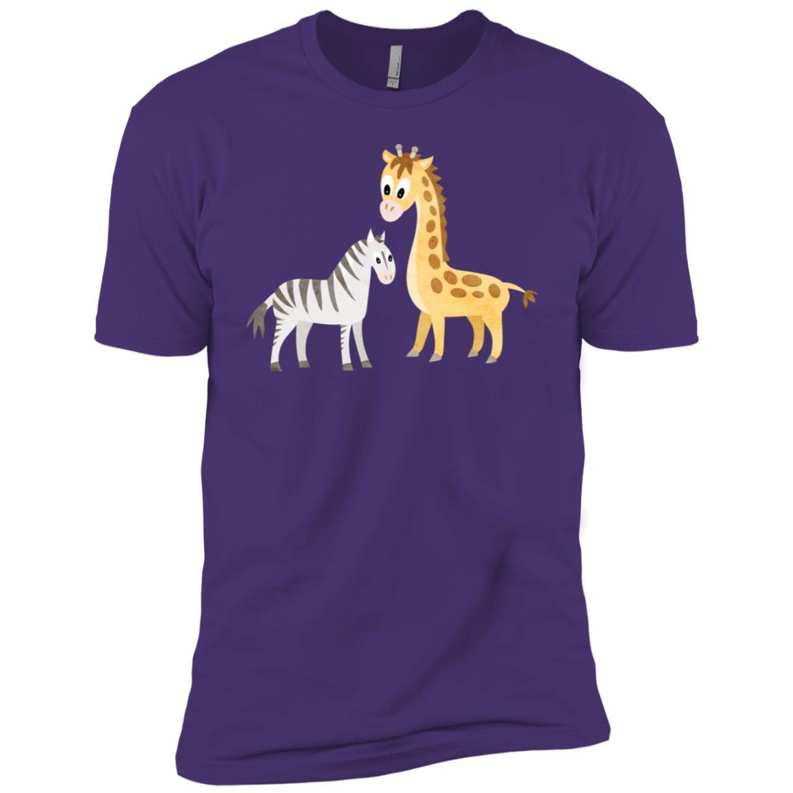 Baby Zebra and Giraffe Men Short Sleeve T-Shirt
