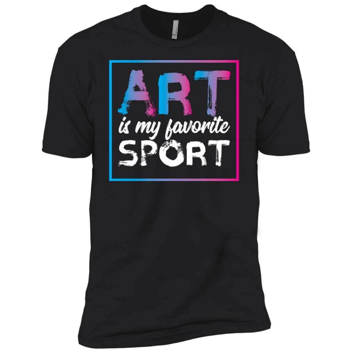 Art Is My Favorite Sport for Artists Cute Gift Men Short Sleeve T-Shirt