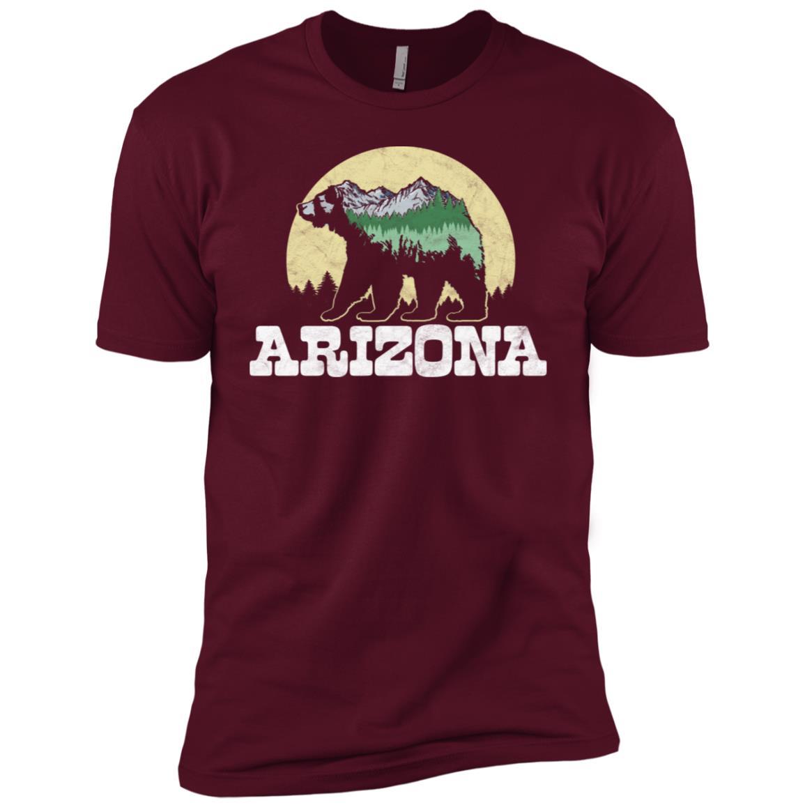 Arizona Bear Sketch Mountains & Trees Men Short Sleeve T-Shirt