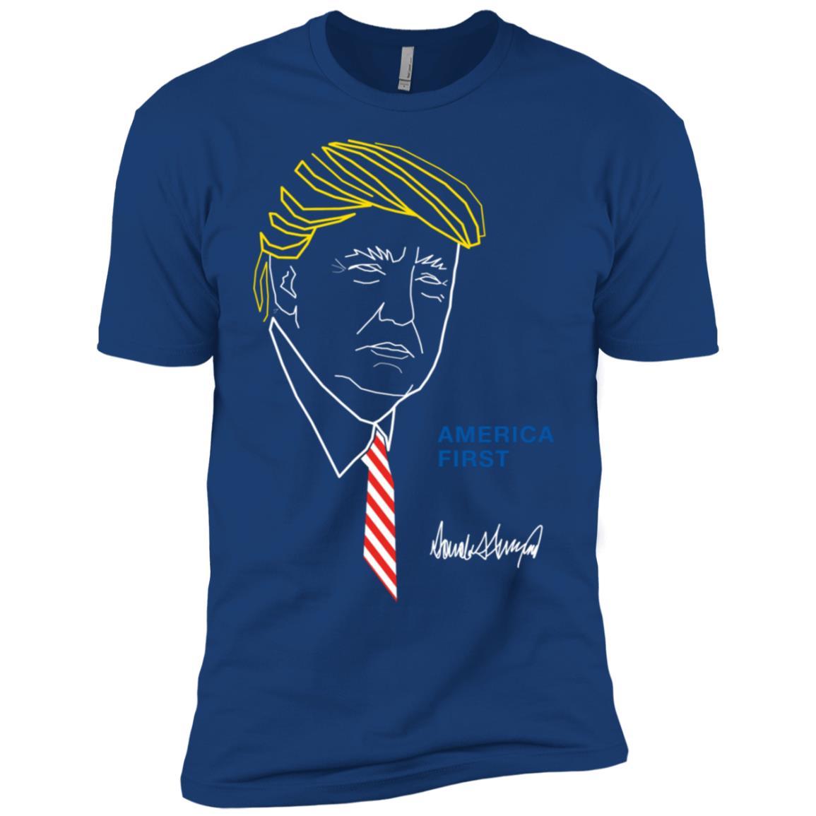 America First Trump 2020 Supporter Men Short Sleeve T-Shirt
