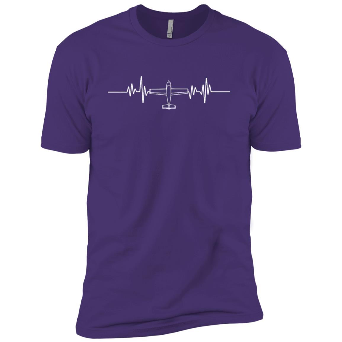 Airplane Pilot Pilot Heartbeat Flying Gift Tee Men Short Sleeve T-Shirt