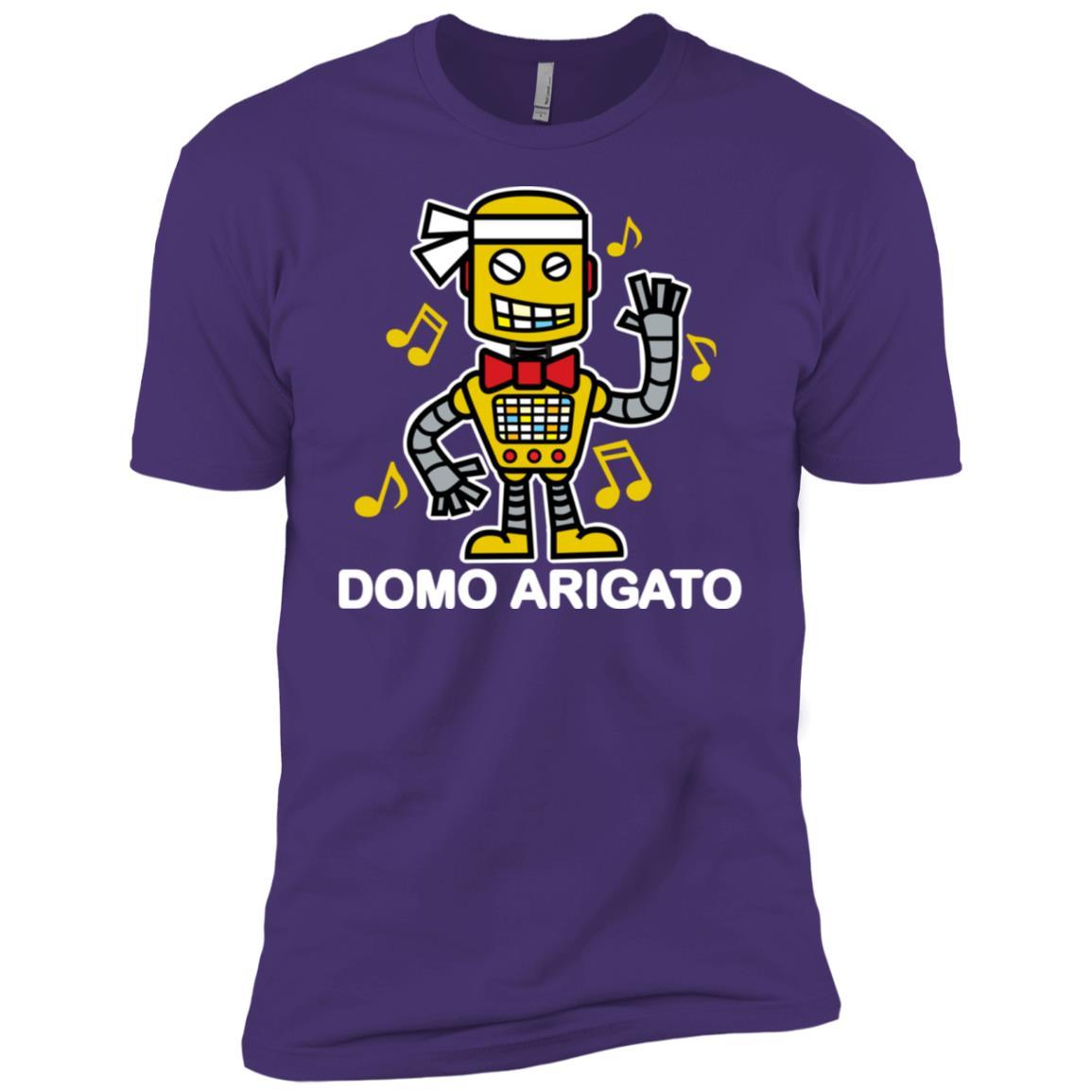80s Music Domo Arigato Robot Graphic (Dark) Men Short Sleeve T-Shirt