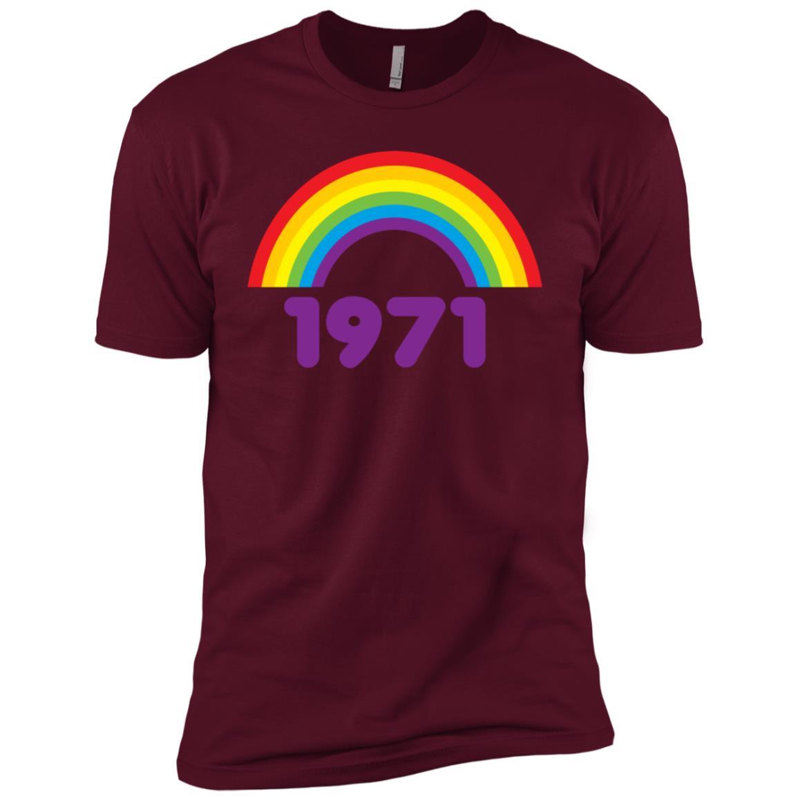 70s s for Women Vintage 1971 Rainbow Men Short Sleeve T-Shirt