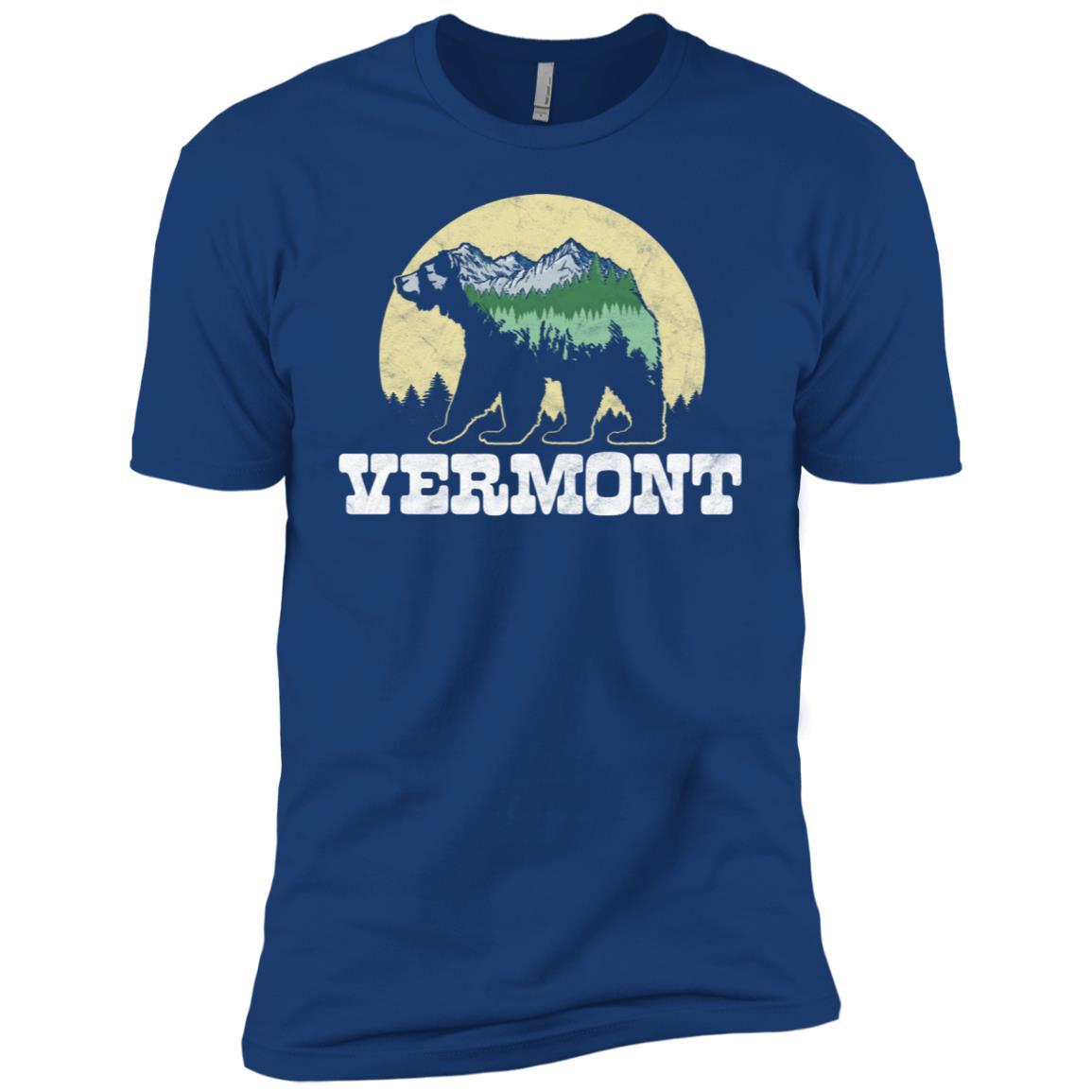 Vermont Bear Sketch Mountains & Trees Men Short Sleeve T-Shirt