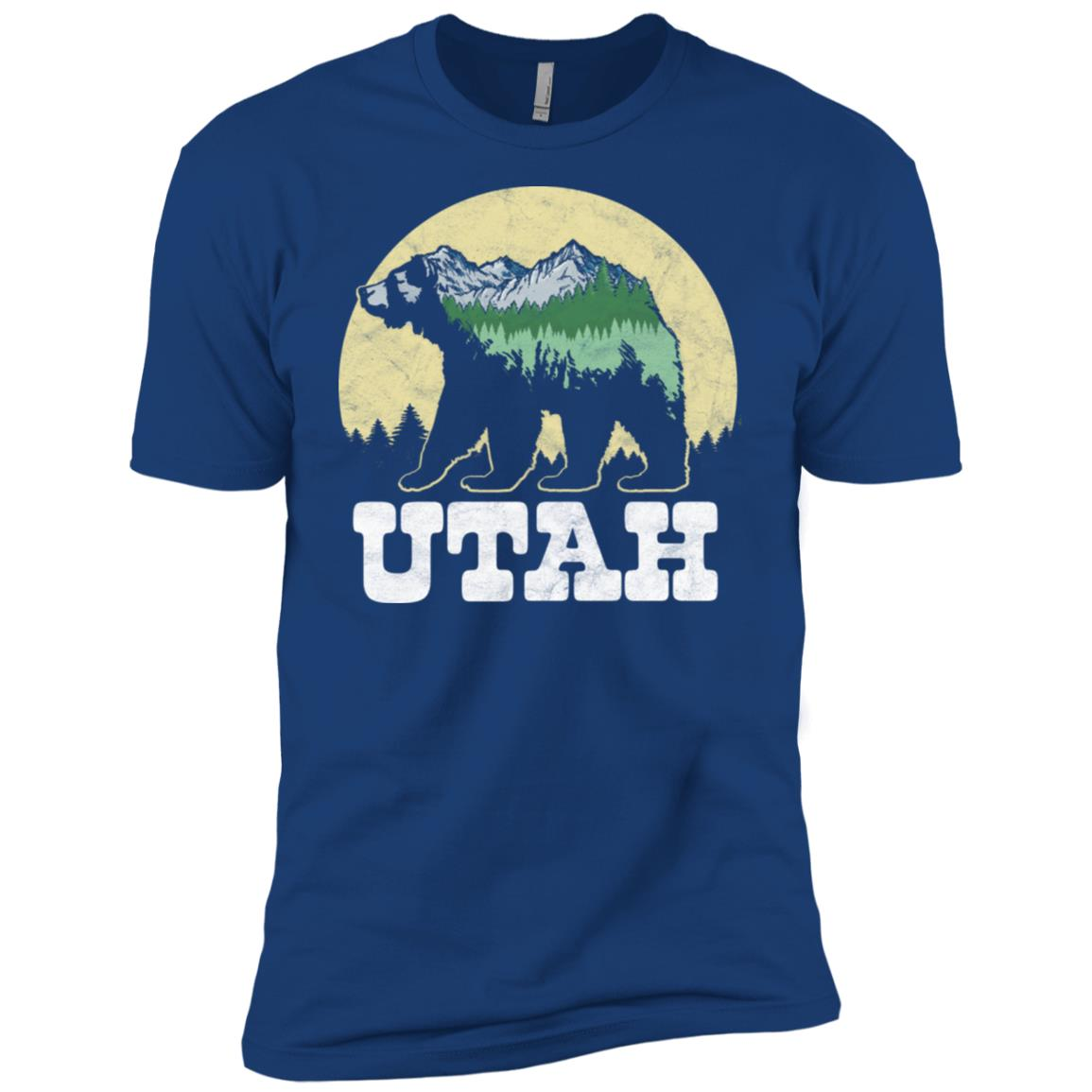 Utah Bear Sketch Mountains & Trees Men Short Sleeve T-Shirt