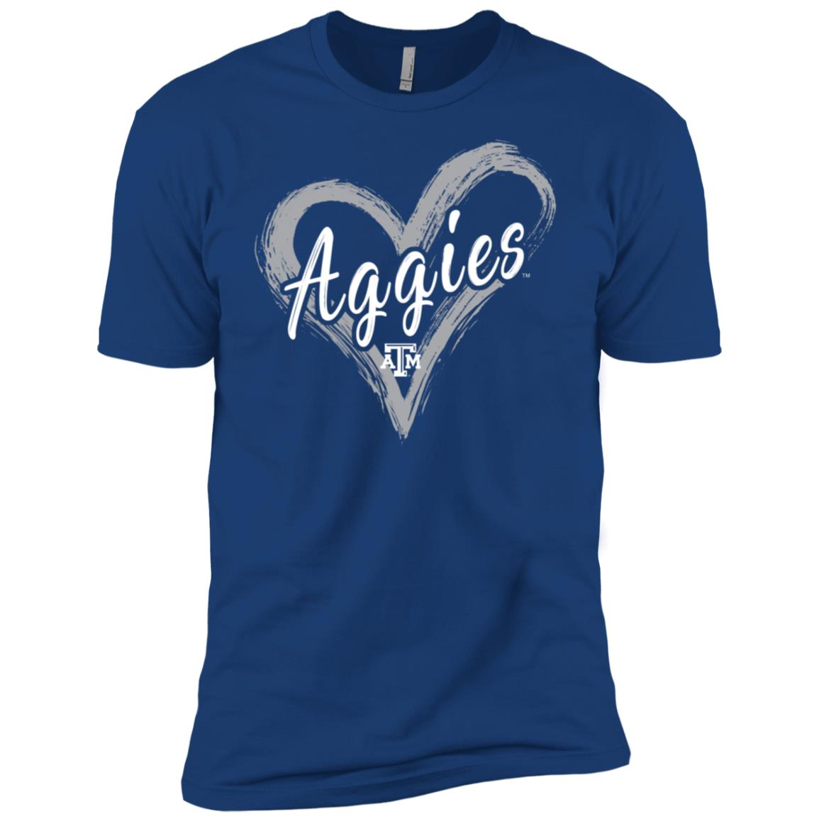 Texas A&m Aggies Drawing Heart – Men Short Sleeve T-Shirt
