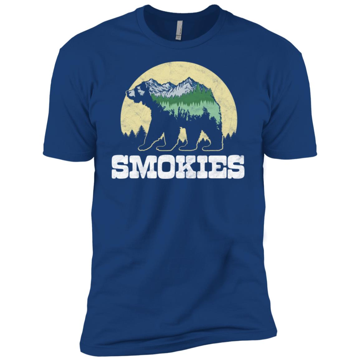 The Smokies Bear Sketch Mountains & Trees Men Short Sleeve T-Shirt