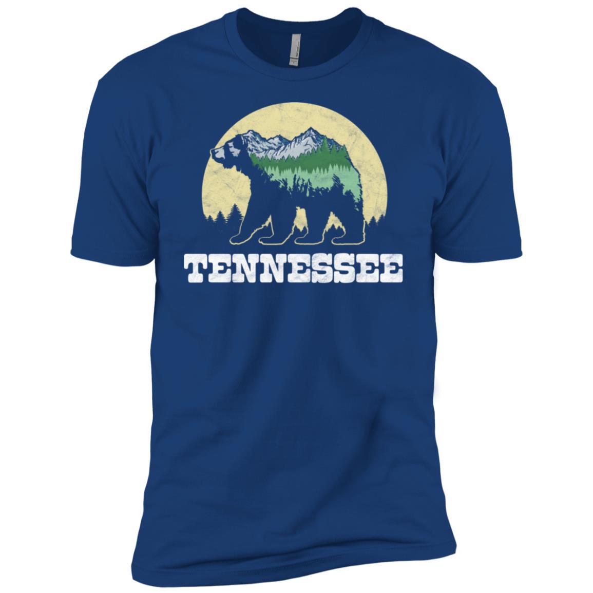 Tennessee Bear Sketch Mountains & Trees Men Short Sleeve T-Shirt