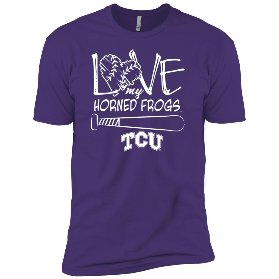 Tcu Horned Frogs Love Drawing Letters Men Short Sleeve T-Shirt