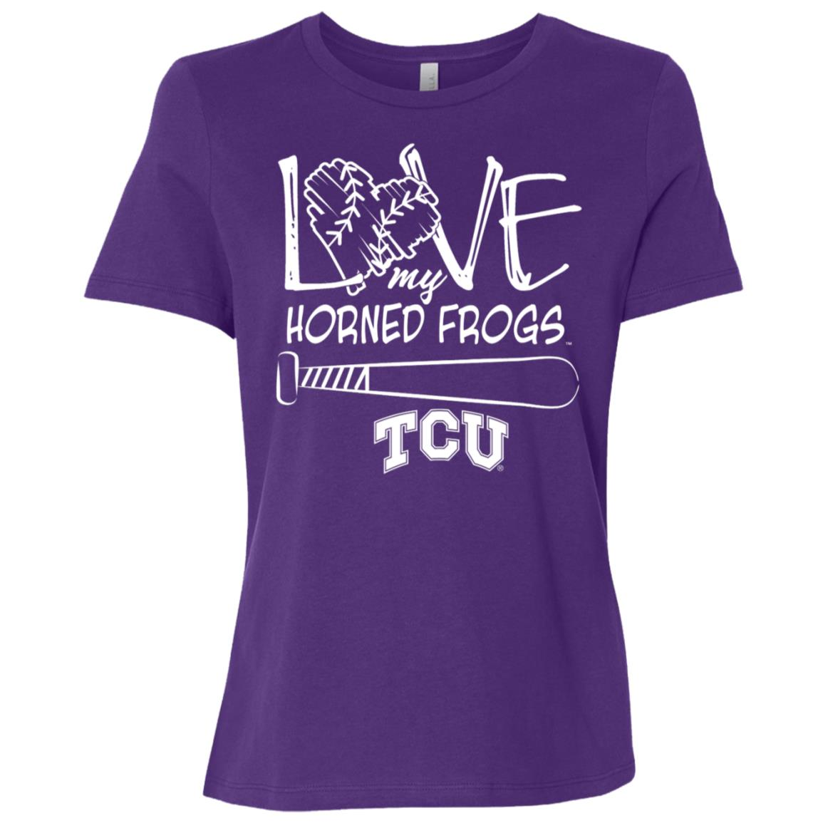 Tcu Horned Frogs Love Drawing Letters Women Short Sleeve T-Shirt