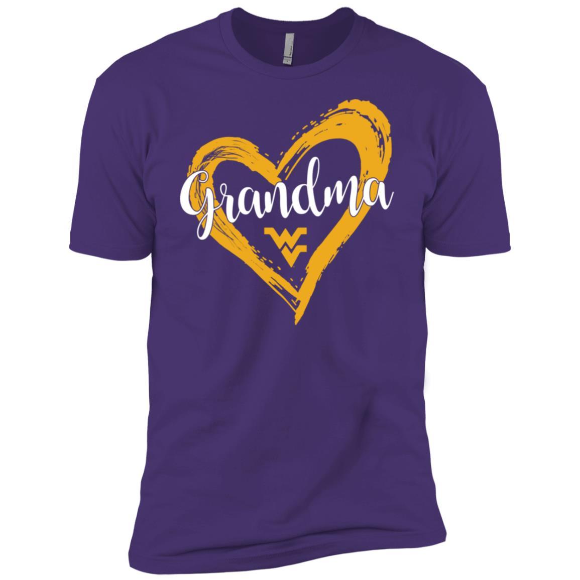West Virginia Mountaineers Drawing Heart – Grandma Men Short Sleeve T-Shirt